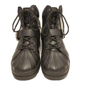 Lugz Hi Top Boots Avalanche Strap Black Men's 9